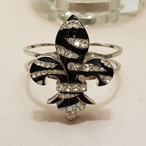 Jewelry - Zebra Fleur-de-Lis Bracelet